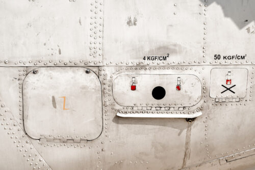 Old metal surface of the aircraft fuselage - slon.pics - free stock photos and illustrations