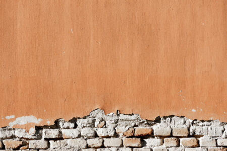 Old weathered plaster on brick wall - slon.pics - free stock photos and illustrations