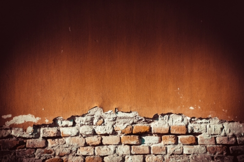 Painted brick wall with paint peeling off - slon.pics - free stock photos and illustrations
