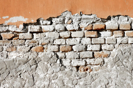 Partially damaged old brick wall - slon.pics - free stock photos and illustrations