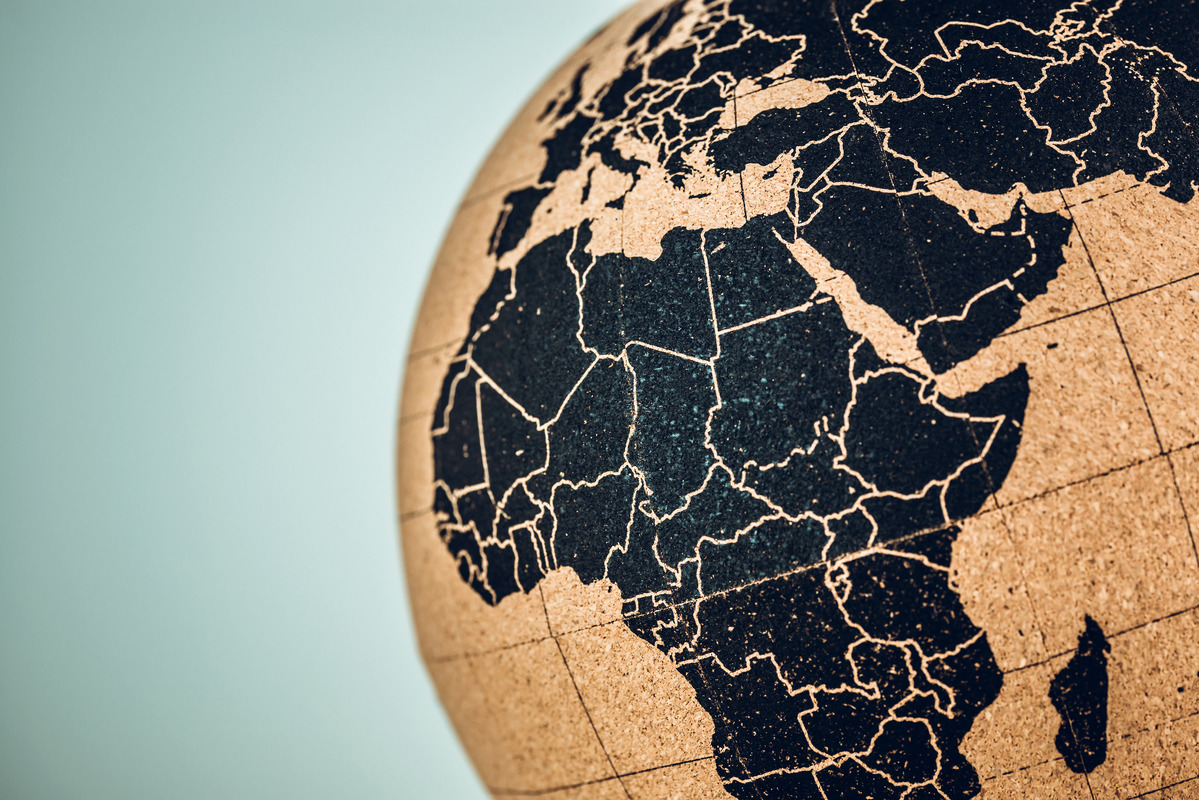 Africa and middle on a globe - slon.pics - free stock photos and illustrations