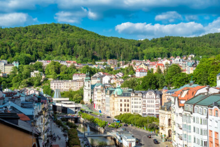 Panoramic view of Karlovy Vary - slon.pics - free stock photos and illustrations