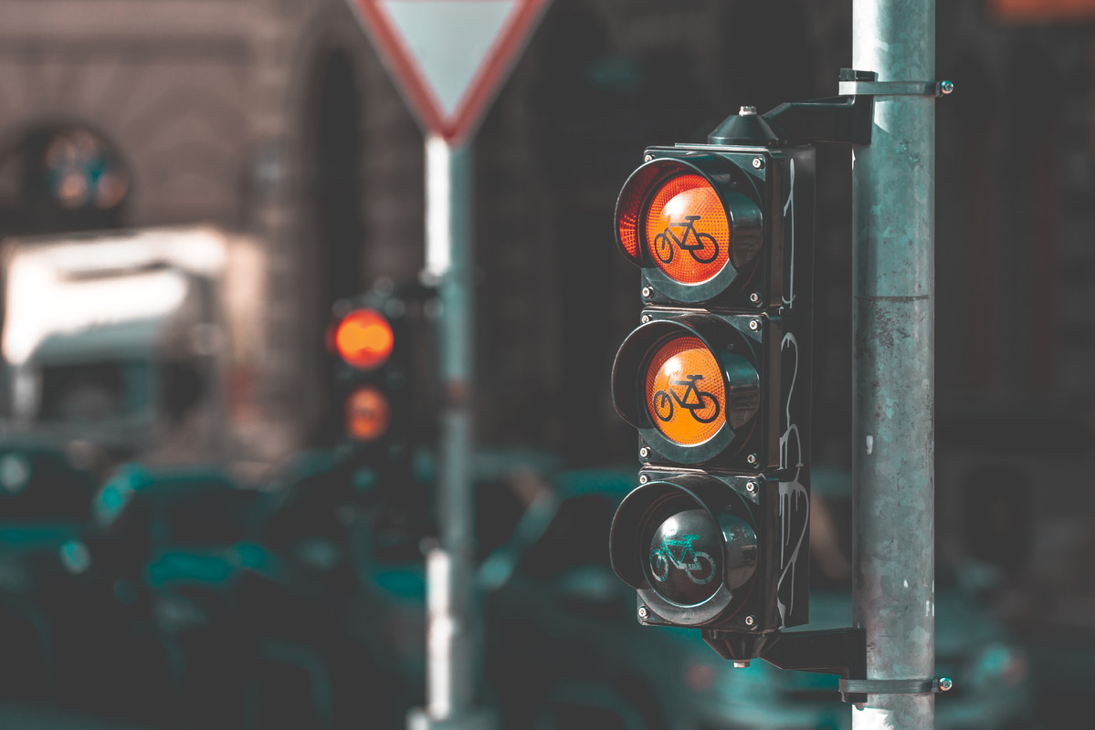 Traffic lights for cyclists - slon.pics - free stock photos and illustrations
