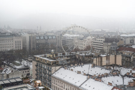 Panorama of Budapest in winter - slon.pics - free stock photos and illustrations