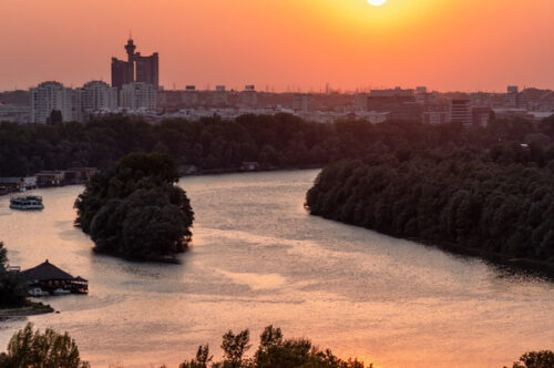 Panorama of the city of Belgrade and the Danube river - slon.pics - free stock photos and illustrations