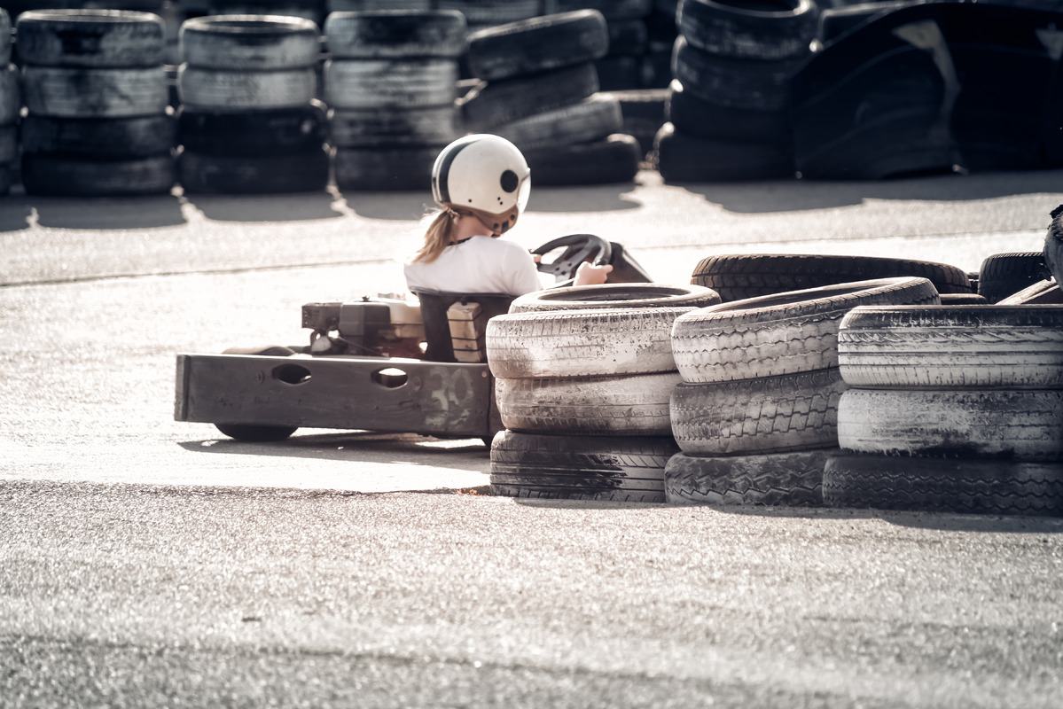Rear view of Go-kart - slon.pics - free stock photos and illustrations