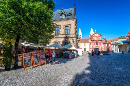 Restaurant terrace near Saint George monastery at Prague Castle - slon.pics - free stock photos and illustrations