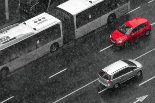 Road traffic seen from above - slon.pics - free stock photos and illustrations