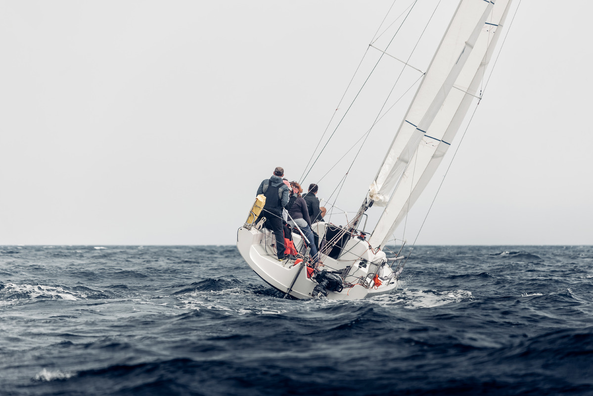 Sailing regatta in inclement weather - slon.pics - free stock photos and illustrations