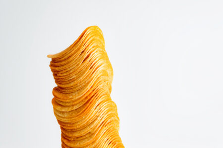 Stack of potato chips - slon.pics - free stock photos and illustrations