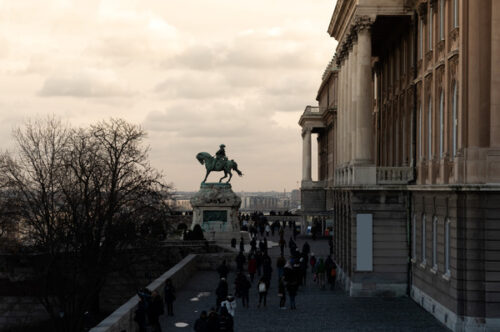 Statue of Prince Eugene of Savoy at Buda castle - slon.pics - free stock photos and illustrations