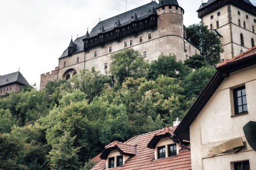 View of Karlstejn Castle - slon.pics - free stock photos and illustrations