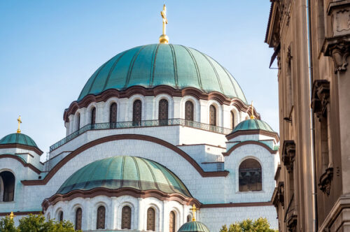 View of Temple of Saint Sava - slon.pics - free stock photos and illustrations