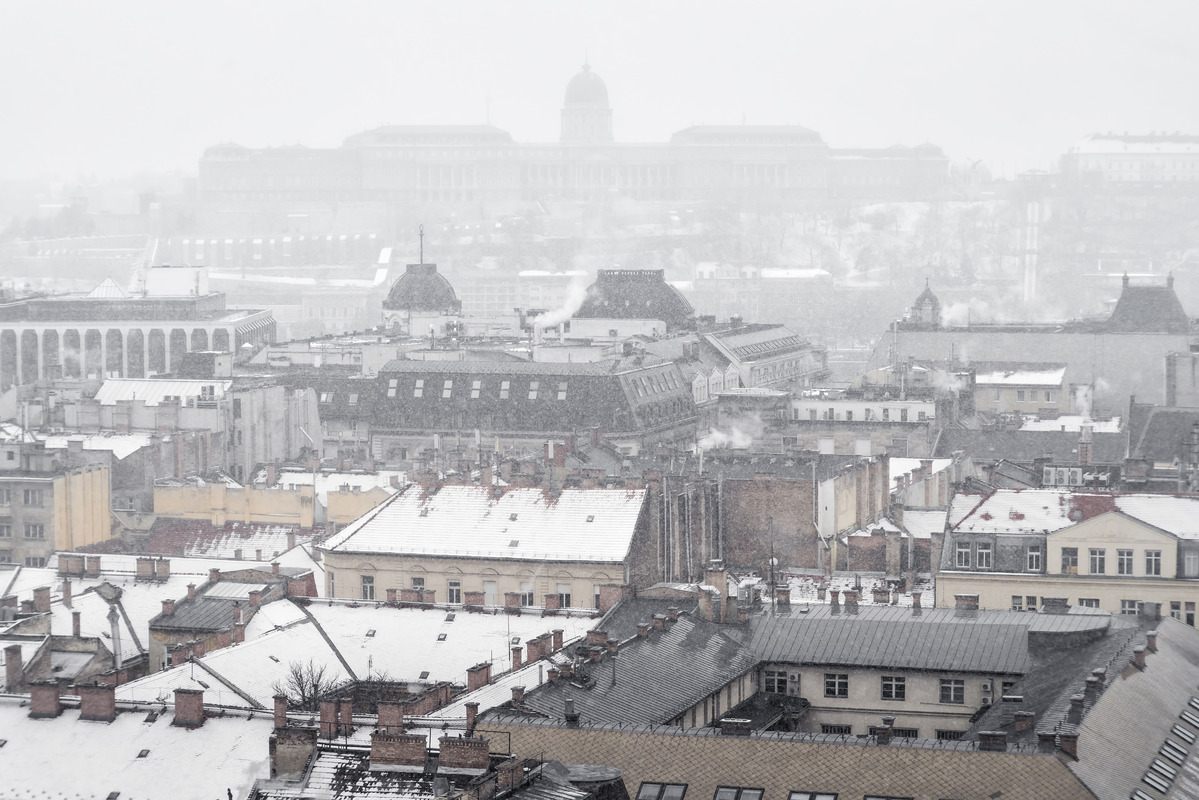Winter panorama of Budapest - slon.pics - free stock photos and illustrations